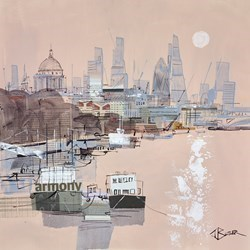 From Waterloo Bridge Study by Tom Butler -  sized 17x17 inches. Available from Whitewall Galleries